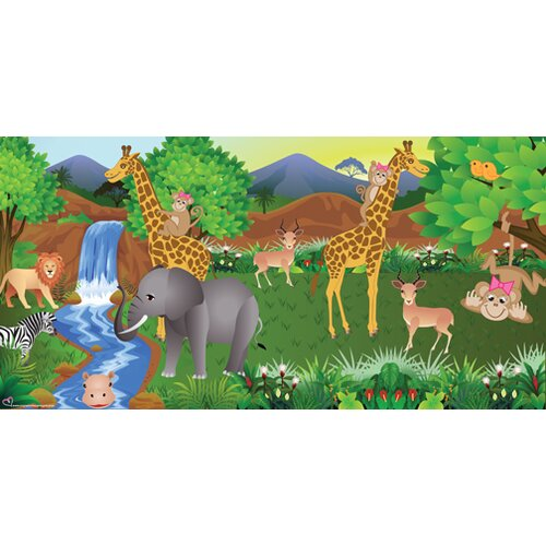 Mona Melisa Designs Monkey Girl Wall Mural