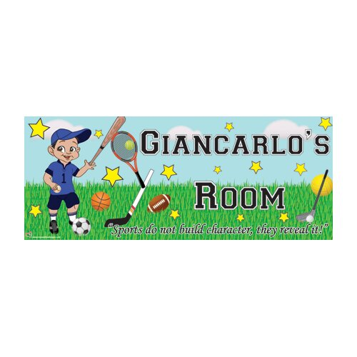 Mona Melisa Designs Sports Boy Name Wall Plaque