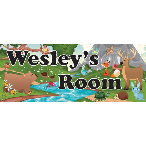Mona Melisa Designs Forest Boy Name Wall Plaque