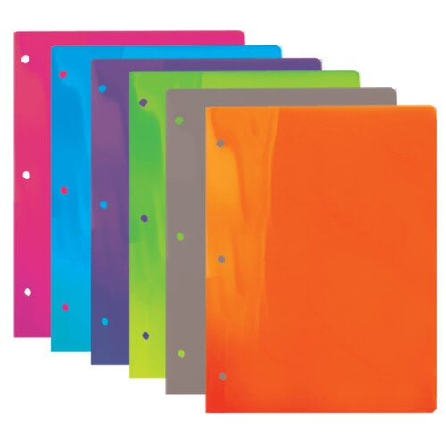 Bazic Translucent 2-Pockets Poly Portfolio