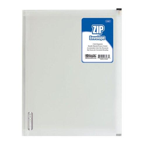 Bazic Letter Size Zip Envelope
