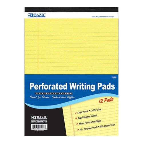 Bazic Perforated Writing Pad