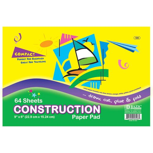 Bazic Mini Construction Paper Pad