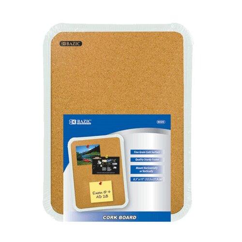 """Bazic 8.5"""" x 11"""" Bulletin Board"""