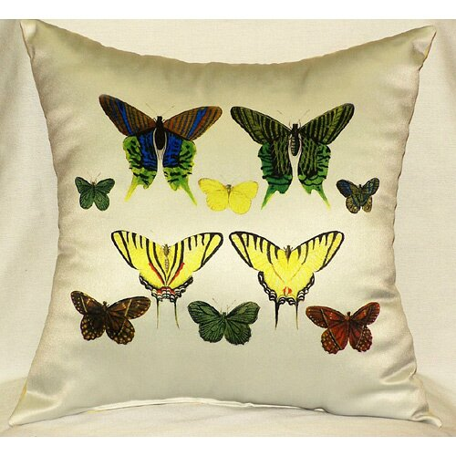 Betsy Drake Interiors Butterflies Print Pillow