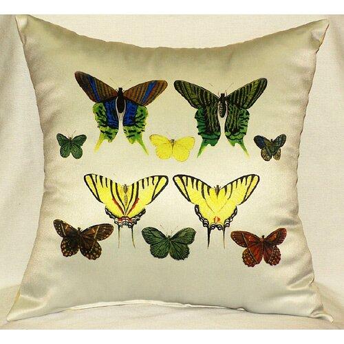 Betsy Drake Interiors Butterflies Print Pillow