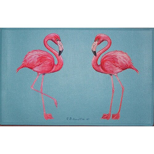 Betsy Drake Interiors Coastal Flamingo Door Mat