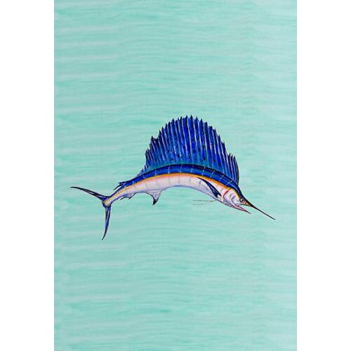 Betsy Drake Interiors Sailfish Vertical Flag