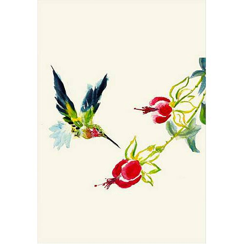 Betsy Drake Interiors Hummingbird Vertical Flag