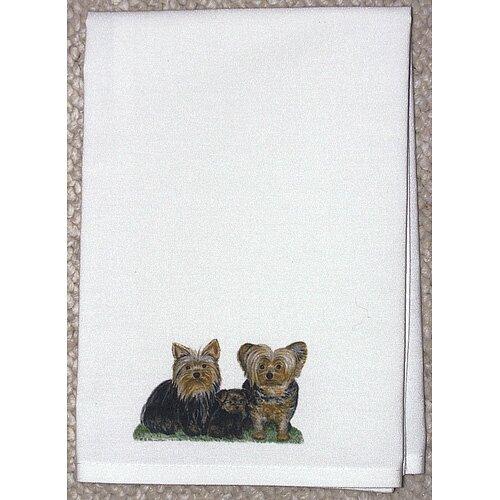 Betsy Drake Interiors Pets Yorkies Hand Towel