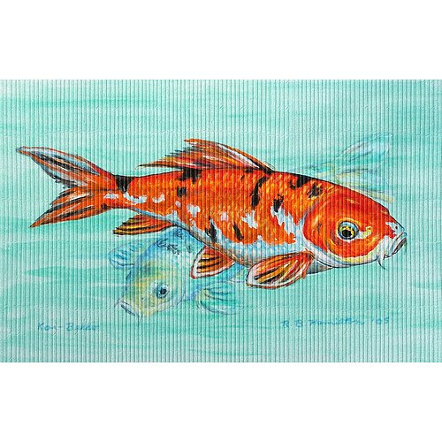 Betsy Drake Interiors Garden Koi Outdoor Wall Hanging