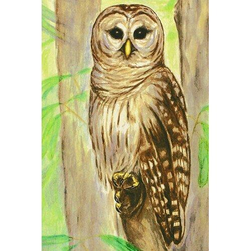 Betsy Drake Interiors Garden Owl Outdoor Wall Hanging