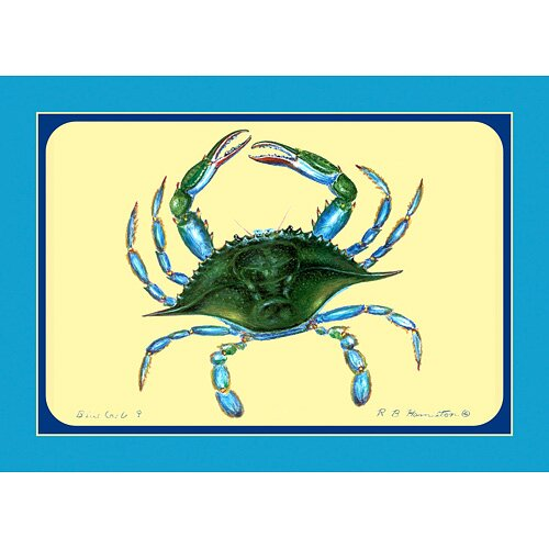 Betsy Drake Interiors Female Blue Crab Placemat