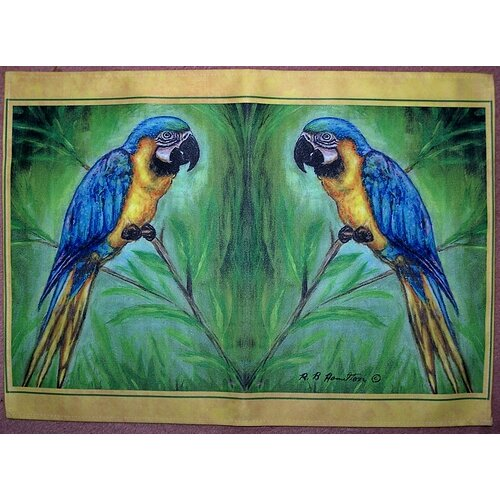 Blue Macaw Placemat (Set of 4)