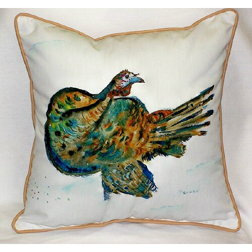 Betsy Drake Interiors Holiday Turkey Indoor / Outdoor Pillow