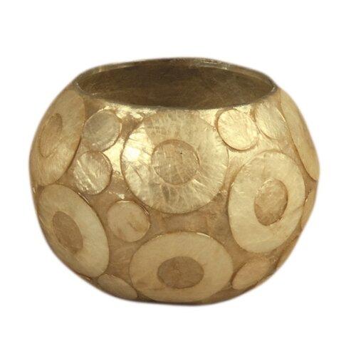 Dekorasyon Gifts & Decor 2 Piece Capiz Shell & Glass Globe Votive Set