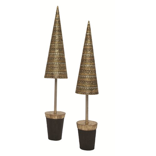 Dekorasyon Gifts & Decor Banded Horizontal Dots Topiary Tree