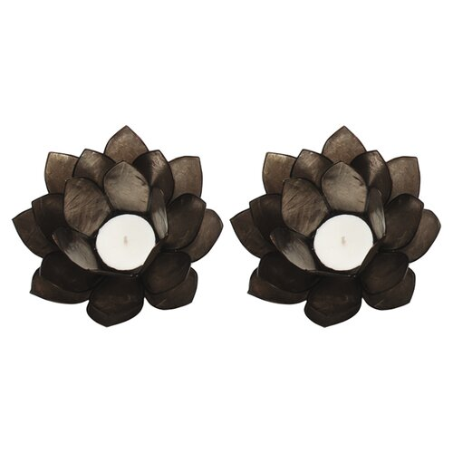 Dekorasyon Gifts & Decor Capiz Lotus Candleholder (Set of 2)
