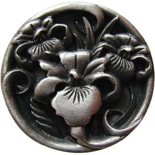 """Notting Hill Floral 1.375"""" Round Knob"""