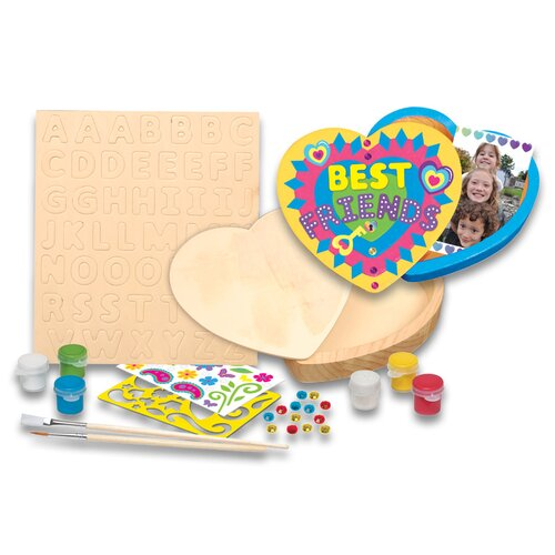 MasterPieces Works of Ahhh Keepsake Heart Box Wood Paint Kit
