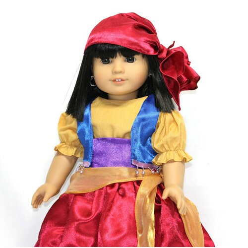 "Arianna Esmeralda Gypsy Costume for 18"" American Girl Doll"