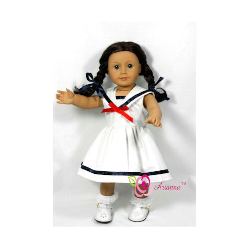 "Arianna Sailor's Sweetheart Doll Dress for 18"" American Girl Doll"