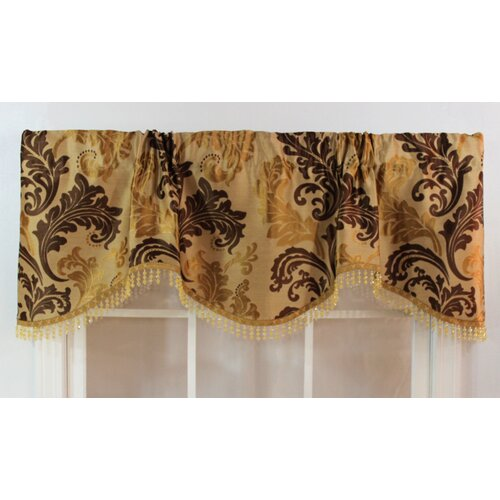 "RLF Home Ella Rod Pocket Scalloped 50"" Curtain Valance"