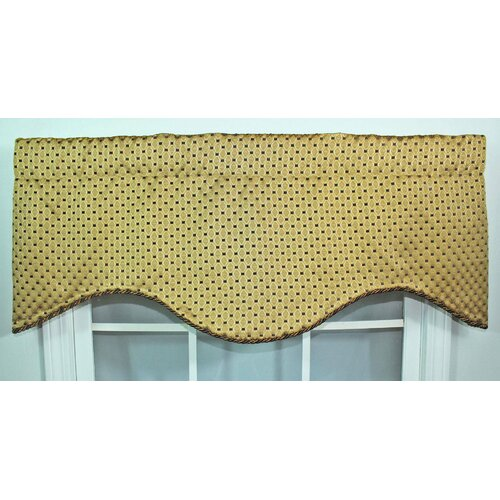 "RLF Home Rod Pocket Scalloped 50"" Curtain Valance"