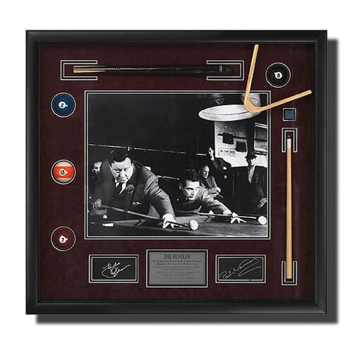 Legendary Art 'The Hustler' Newman/Gleason Framed Memorabilia Shadow Box