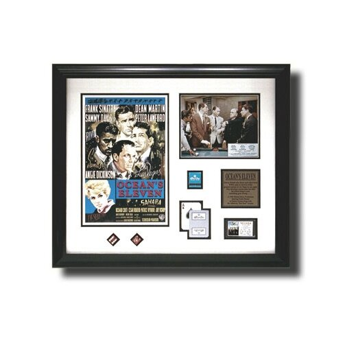 Legendary Art 'Oceans Eleven' Mini Movie Framed Memorabilia Shadow Box