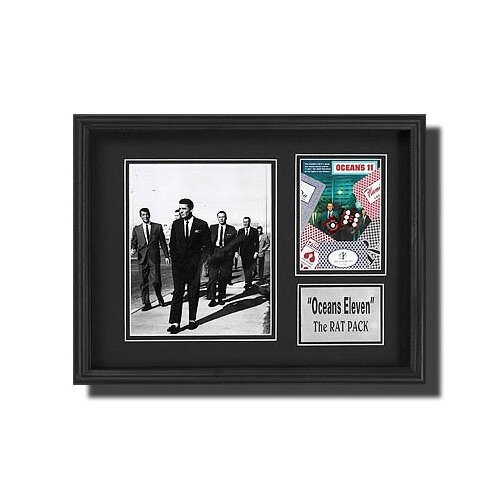 Legendary Art 'Rat Pack' Walking Memorabilia Shadow Box in Black and White