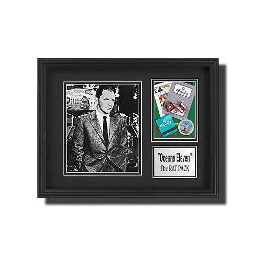 Legendary Art Frank Sinatra Framed Memorabilia Shadow Box