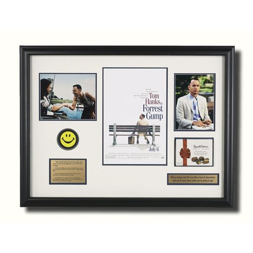 Legendary Art 'Forrest Gump' Framed Memorabilia Shadow Box