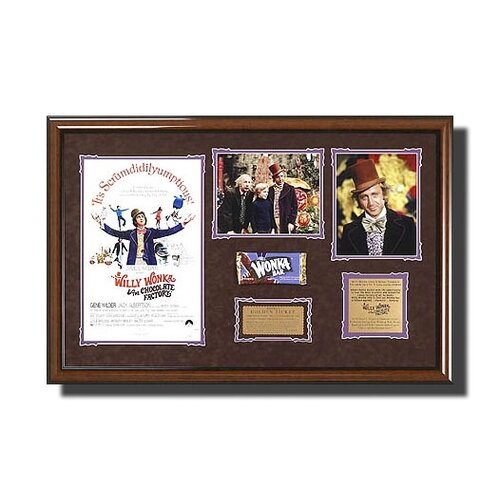 'Willy Wonka & The Chocolate Factory' Framed Memorabilia