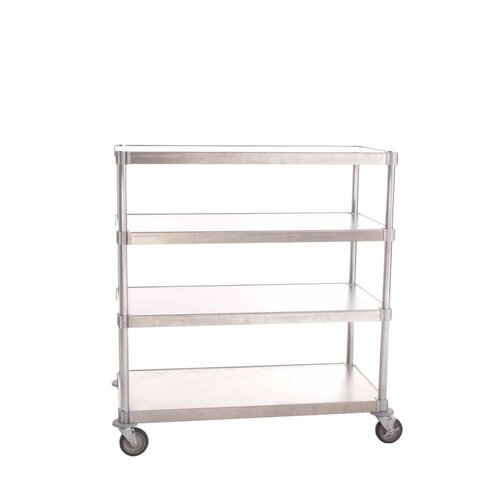 PVIFS Queen Mary Mobile 4 Shelf Shelving Unit Starter