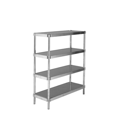 PVIFS Solid Complete 4 Shelf Shelving Unit Starter