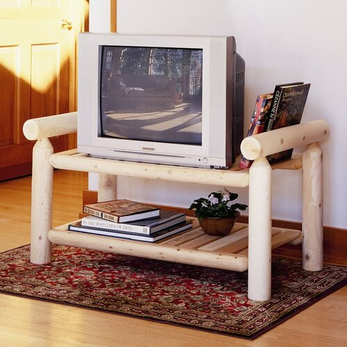 "Rustic Natural Cedar Furniture 44"" TV Stand"