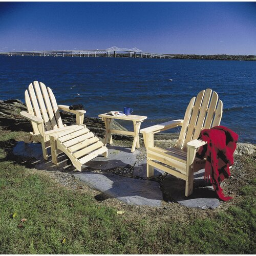 Rustic Natural Cedar Furniture Adirondack Chair [Folds for Storage]