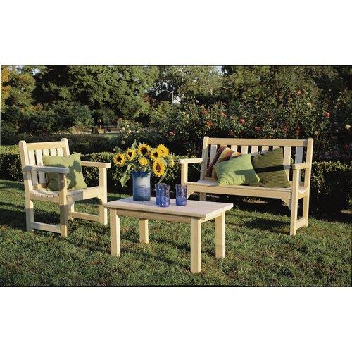Rustic Natural Cedar Furniture English Garden Coffee Table
