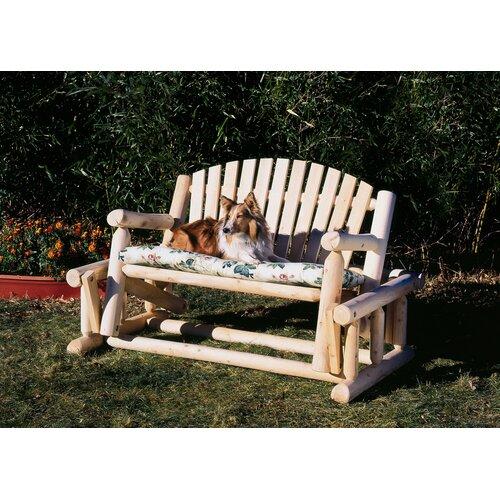 Rustic Natural Cedar Furniture Log Style Wood Garden Bench