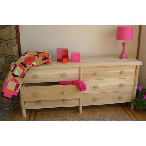 Rustic Natural Cedar Furniture 6 Drawer Dresser
