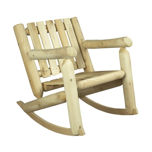 Rustic Natural Cedar Furniture Low Back Indoor / Outdoor Rocking Chair