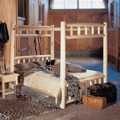 Rustic Natural Cedar Furniture Canopy Four Poster Bed