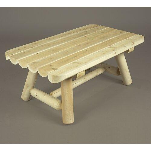 Rustic cedar rectangular coffee table reviews wayfair