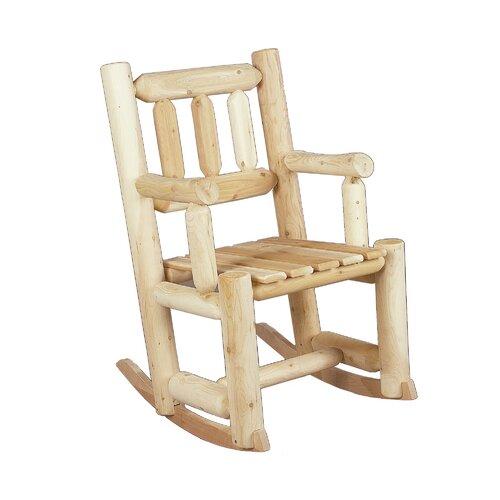 Rustic Natural Cedar Furniture Indoor / Outdoor Rocking Chair