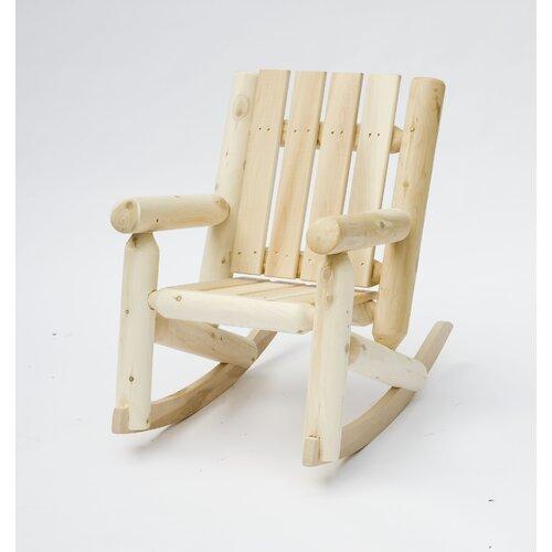 Rustic Cedar Junior Log Kids Rocking Chair & Reviews
