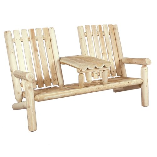 Rustic Natural Cedar Furniture Garden Tete-a-Tete