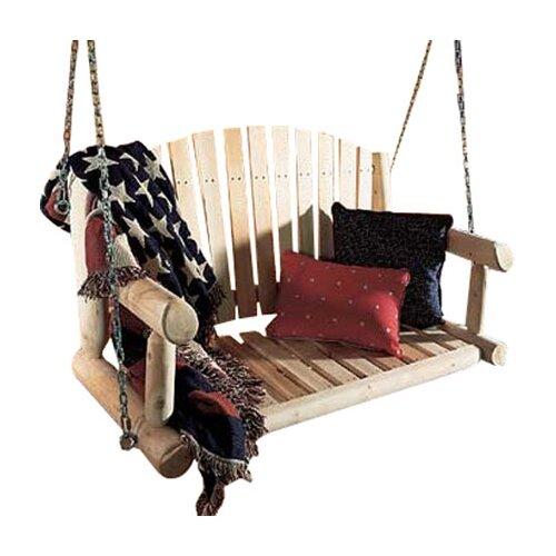 Rustic Natural Cedar Furniture Porch Swing