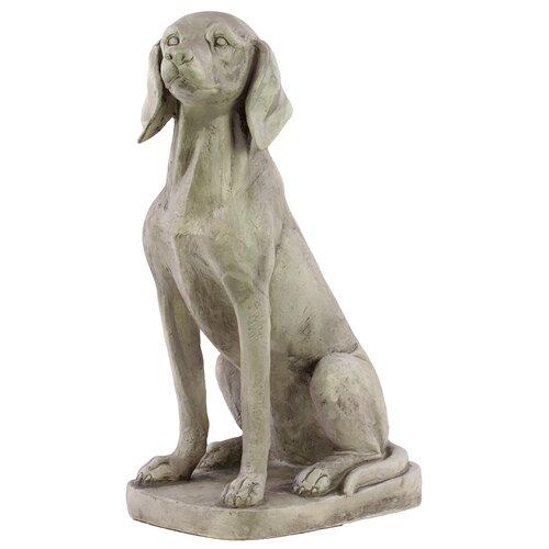 Fiberstone Sitting Dog Statue