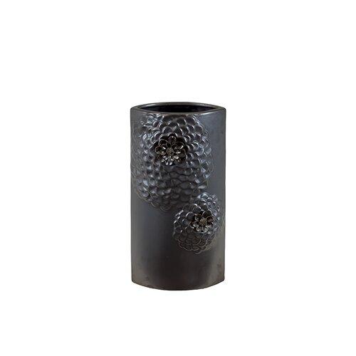 Urban Trends Ceramic Vase Gunmetal